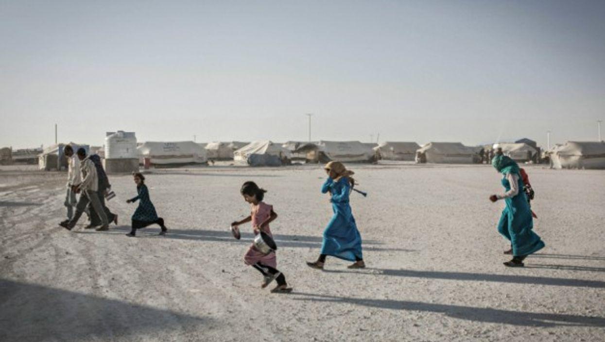 In the Ain al-Issa refugee camp near Raqqa on July 17