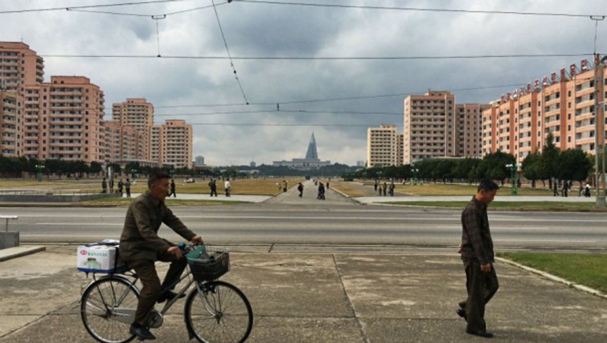 In the center of Pyongyang