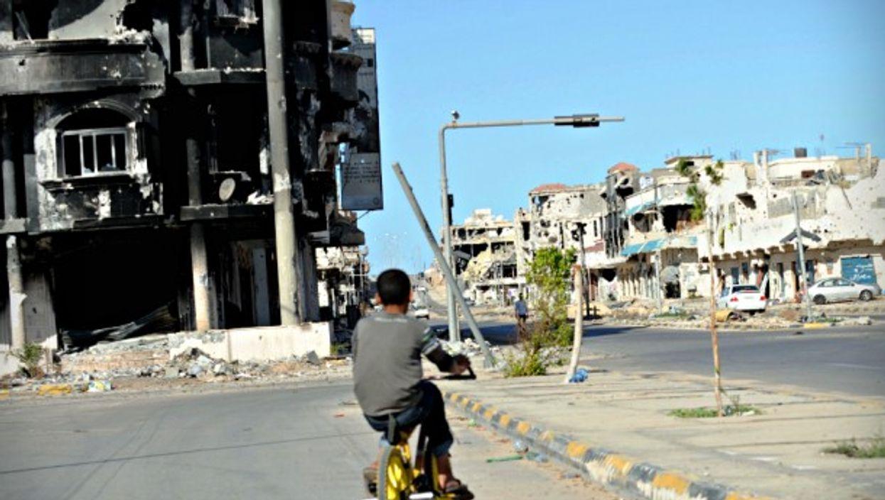 In the center of Sirte, Libya