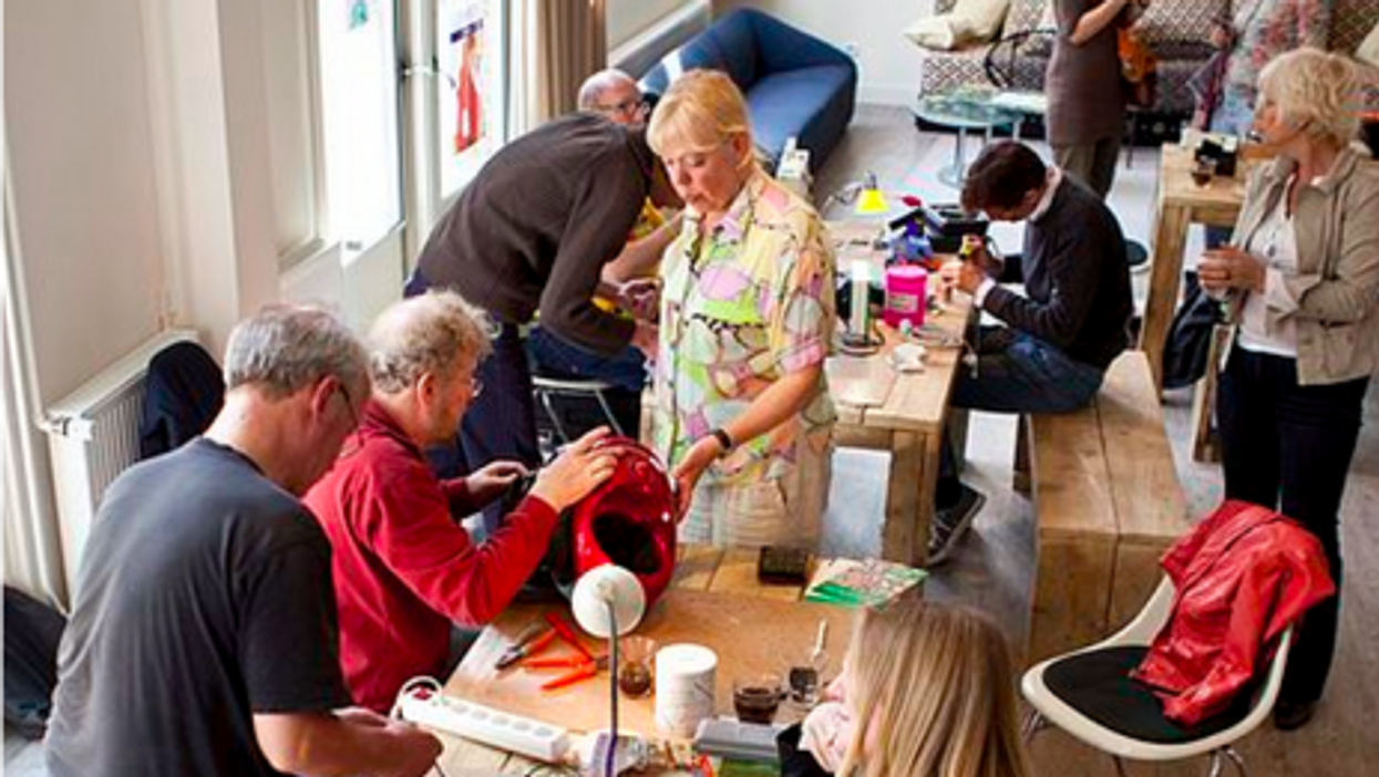In the Netherlands, at one of the first-ever Repair Cafes