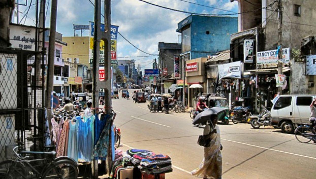 In the streets of Negombo, Sri Lanka