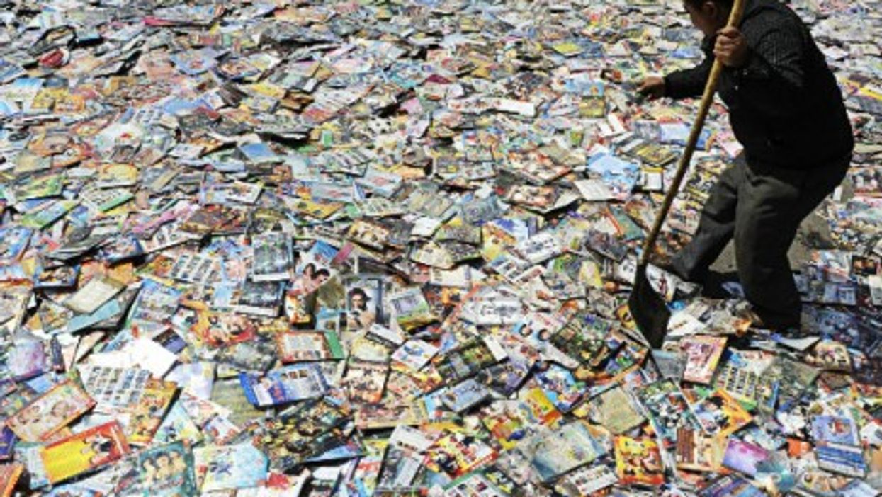 In this file photo, pirated DVDs in China are set to be destroyed.