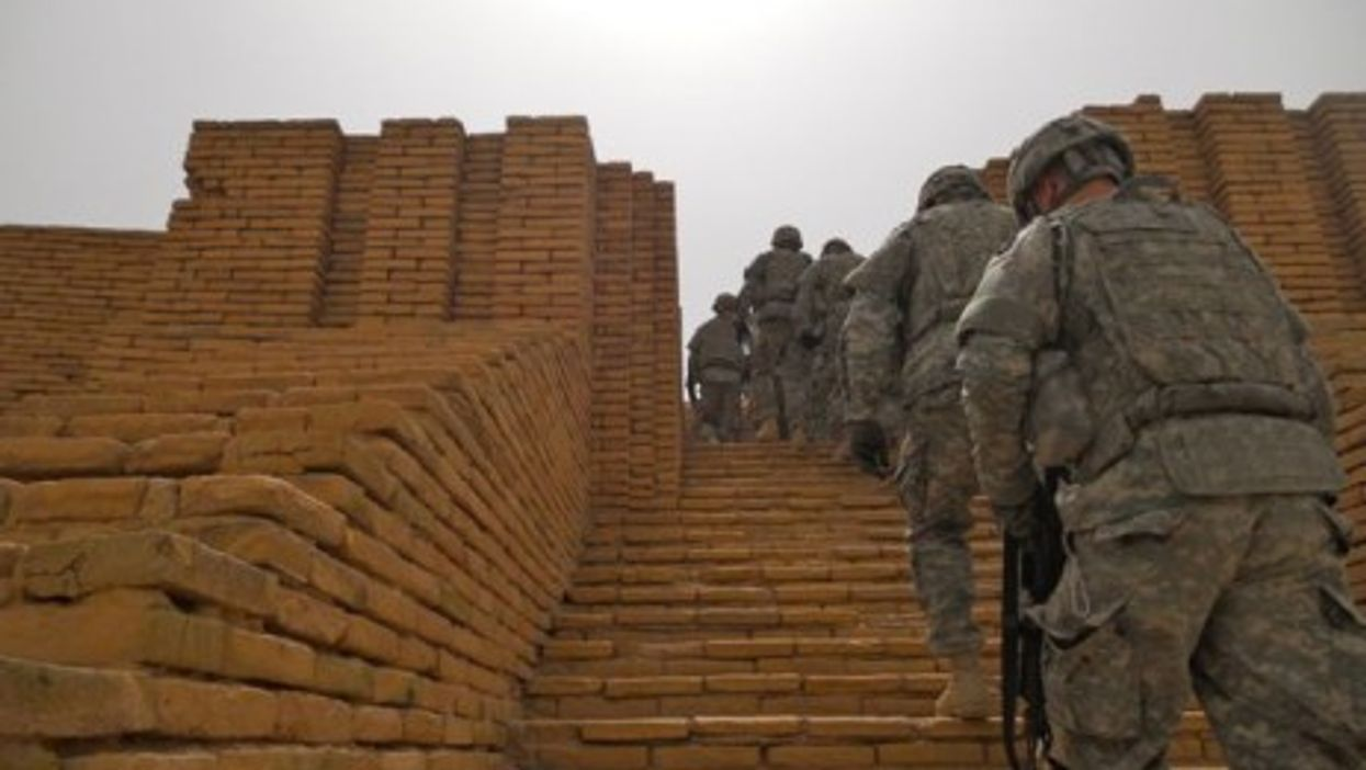 In Ur, locals hope troops will soon be replaced by tourists