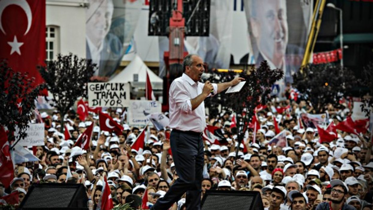 Ince at a recent campaign rally in Yalova, Turkey