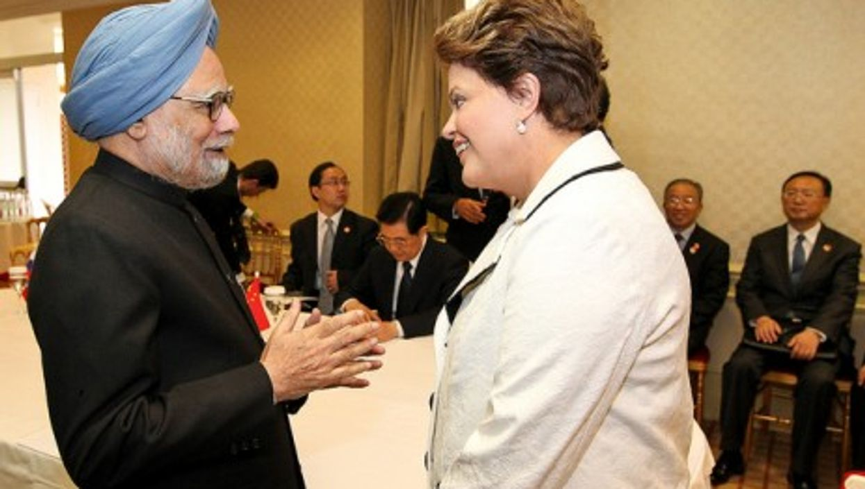 Indian Prime Minister Manmohan Singh and Brazilian President Dilma Rousseff last year at a BRICS summit.