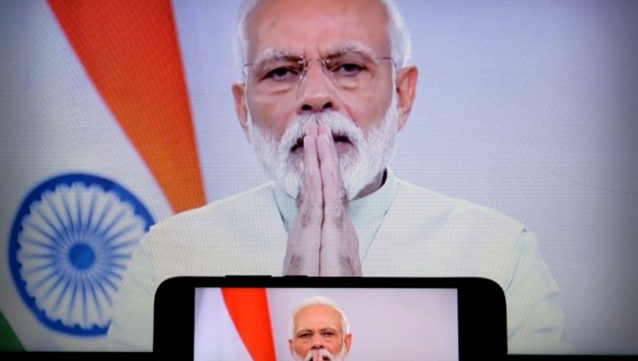 Indian Prime Minister Modi addresses the nation