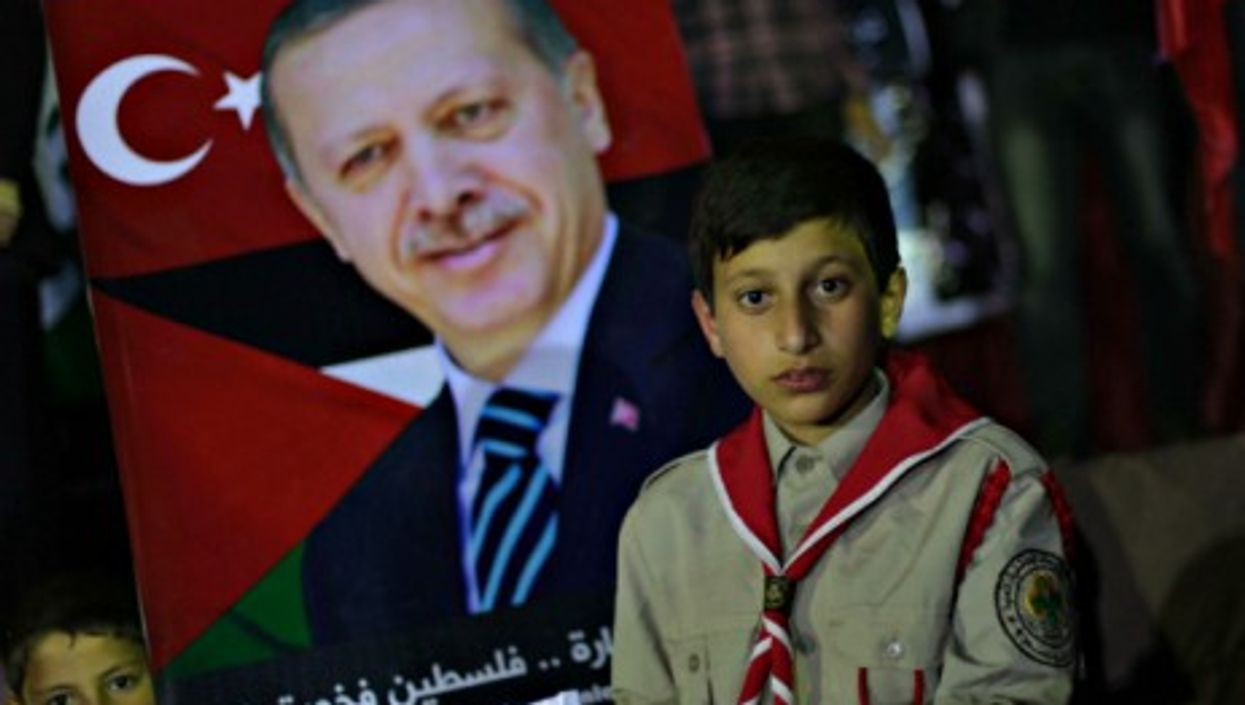Influential abroad? A pro-Erdogan rally in Gaza in March
