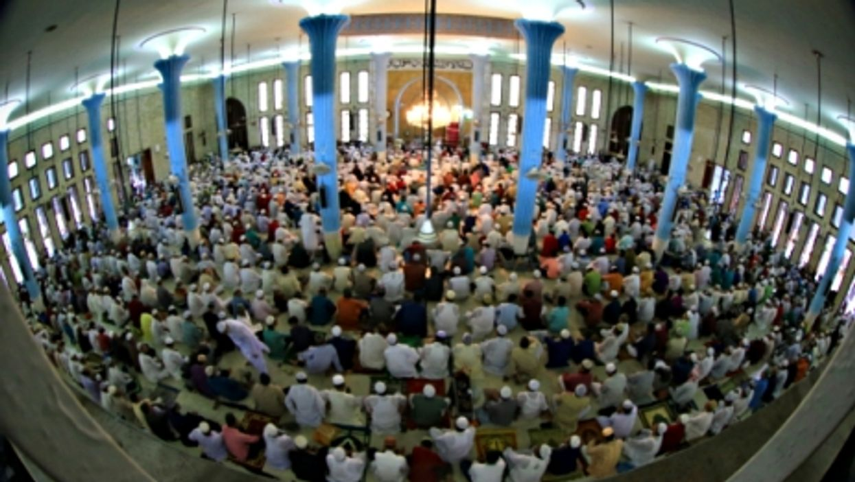 Inside a mosque in Dhaka on July 28