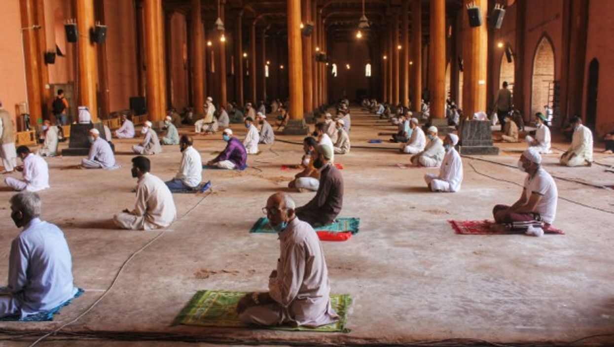 Inside a mosque in Downtown Srinaga, India
