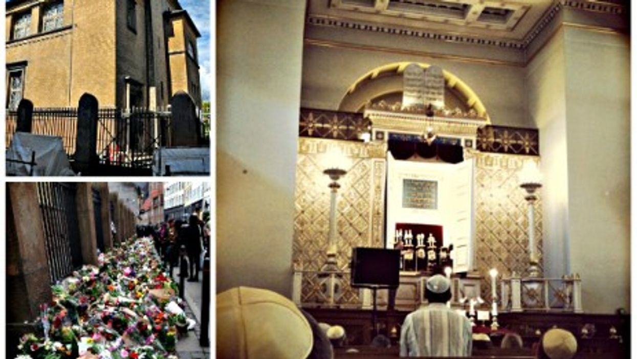 Inside and outside Copenhagen's Great Synagogue