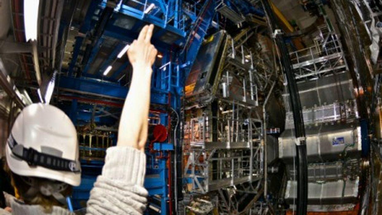 Inside CERN's ATLAS Cavern, located 92 m. below ground,