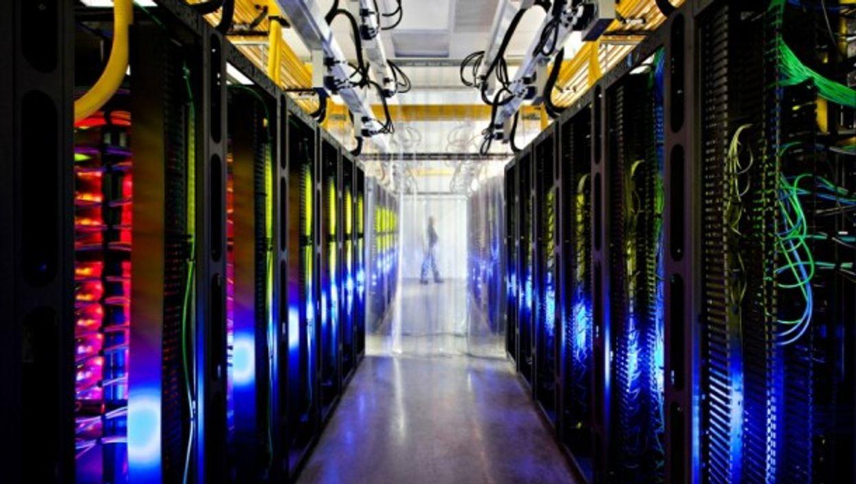 Inside one of Google's data centers in Iowa