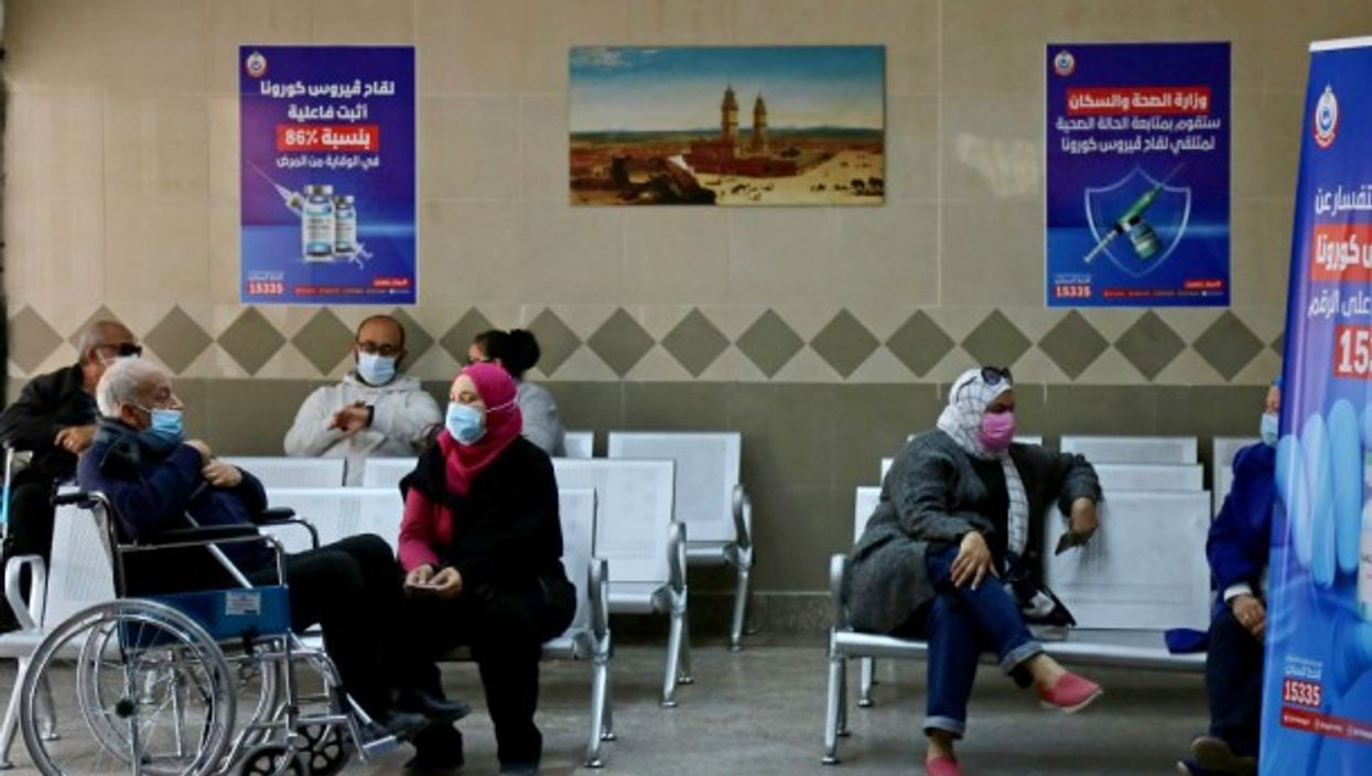 Inside Qattameya's medical center in Cairo on the first day of vaccination in Egypt in March 2021