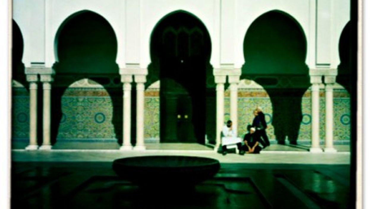 Inside the Grand Mosque of Paris