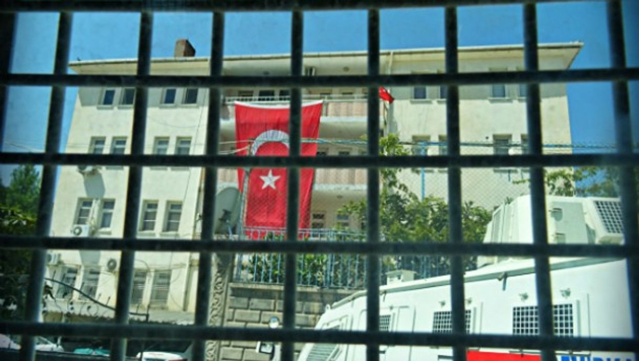 Inside the Turkish police station