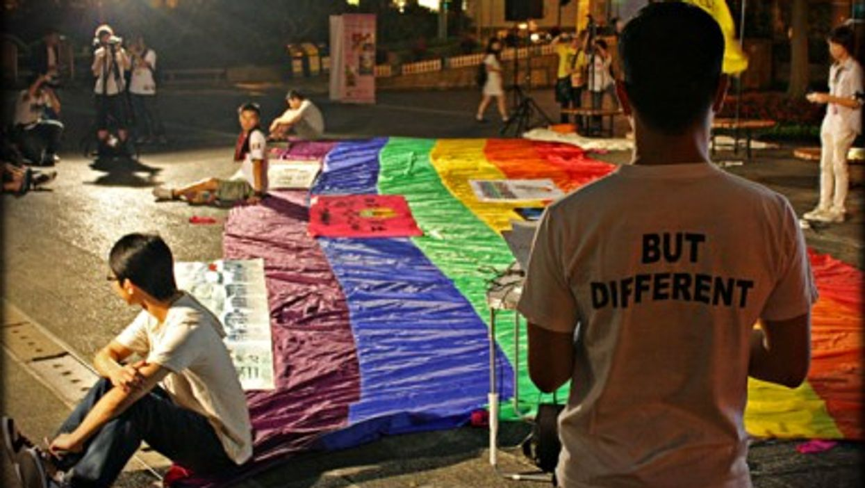 International Day Against Homophobia and Transphobia rally in Hong Kong.