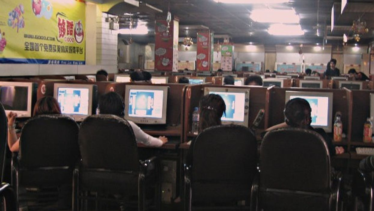 Internet Cafe in Beijing, China