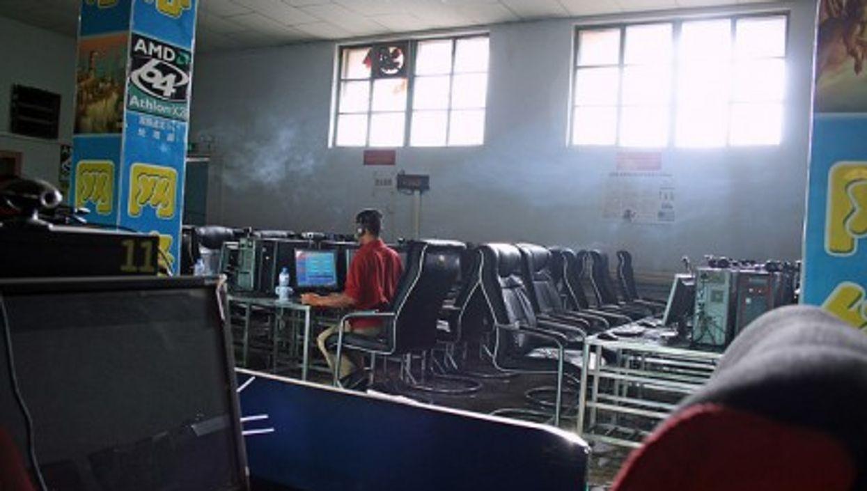 Internet café in Turpan, China.