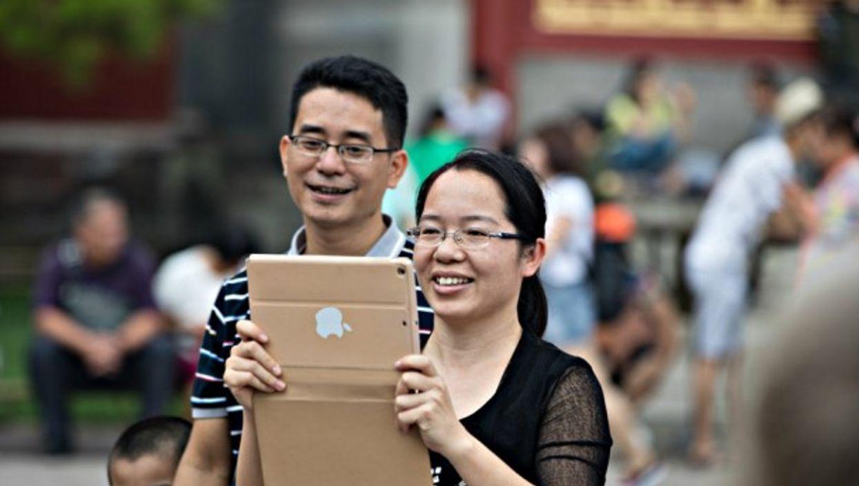 iPad smile in Beijing