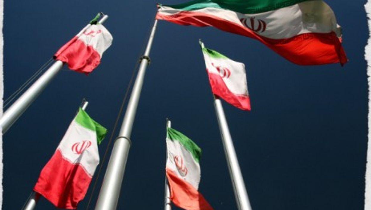 Iranian flags in Tehran