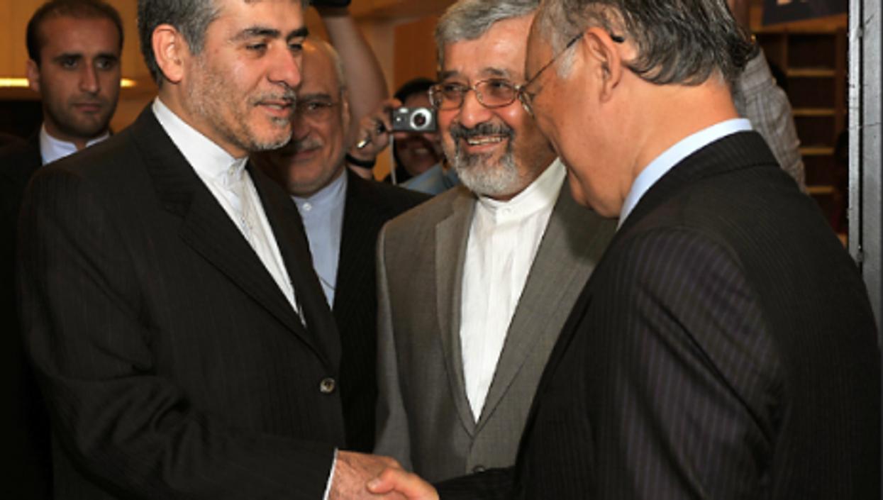 Iranian nuclear officials meet IAEA chief Yukiya Amano in June (Dean Calma/IAEA)