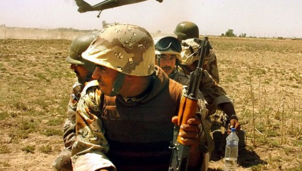 Iraqi army soldiers in 2007