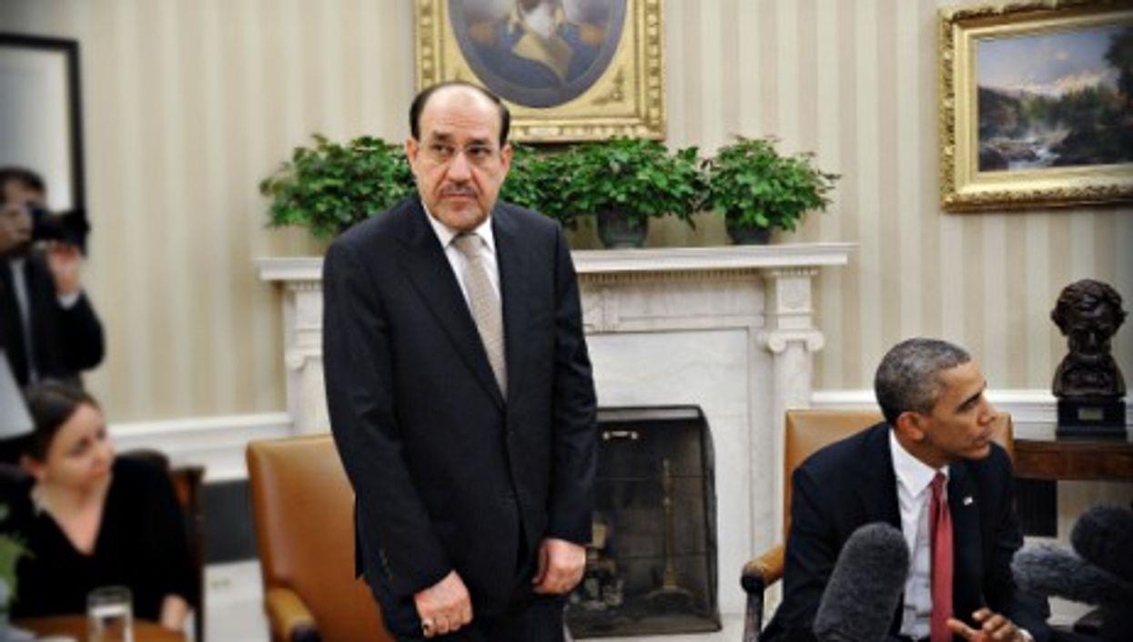 Iraq's Prime Minister Nouri Al-Maliki and U.S. President Barack Obama