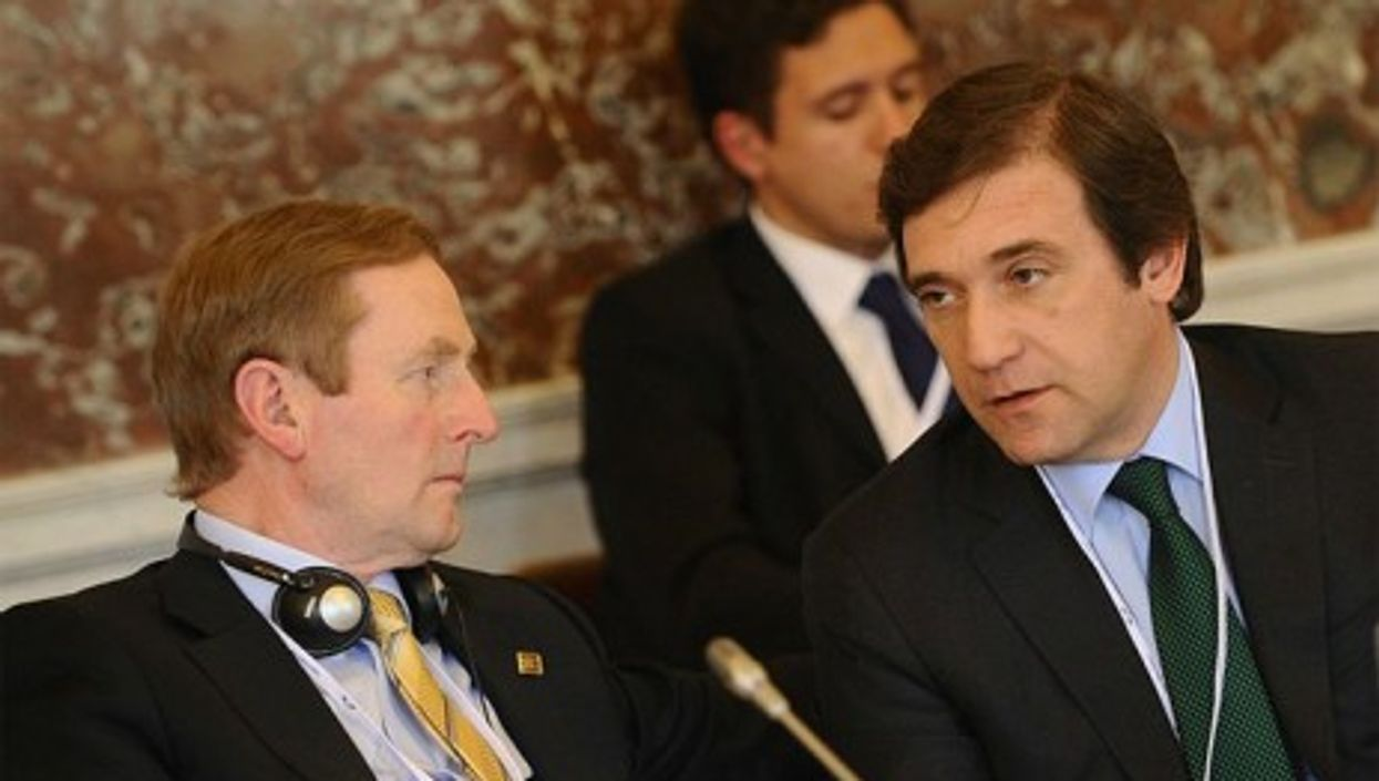 Ireland's Enda Kenny and Portugal's Pedro Passos Coelho at the EPP Summit in March 2012 (EPP)