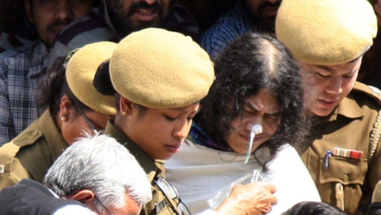 Irom Sharmila, in white.