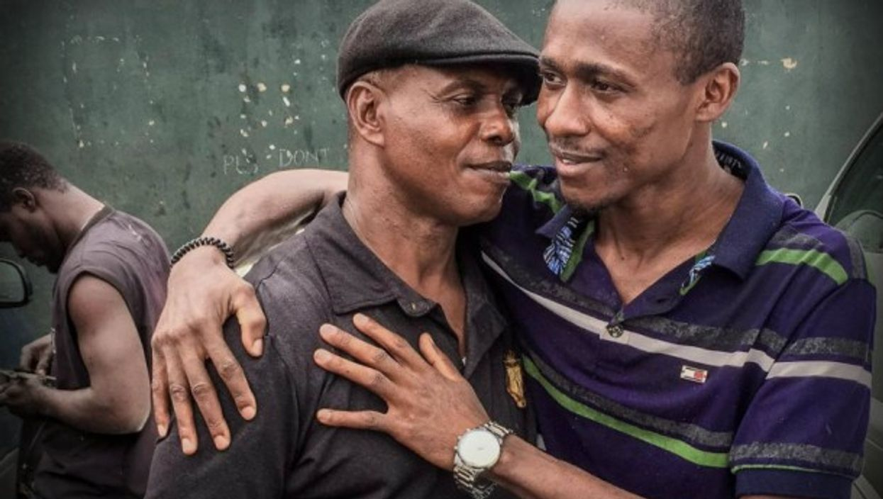 Isaac (right) is about 15 kg lighter than before leaving Nigeria