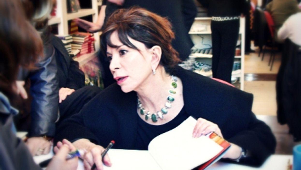 Isabel Allende at a book signing event