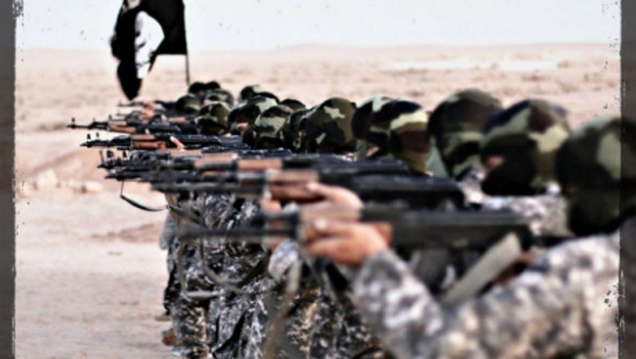 ISIS fighters train in Raqqa in November