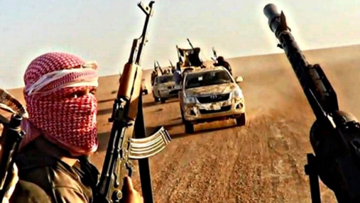 ISIS near Raqqa. Where does those SUVs come from?