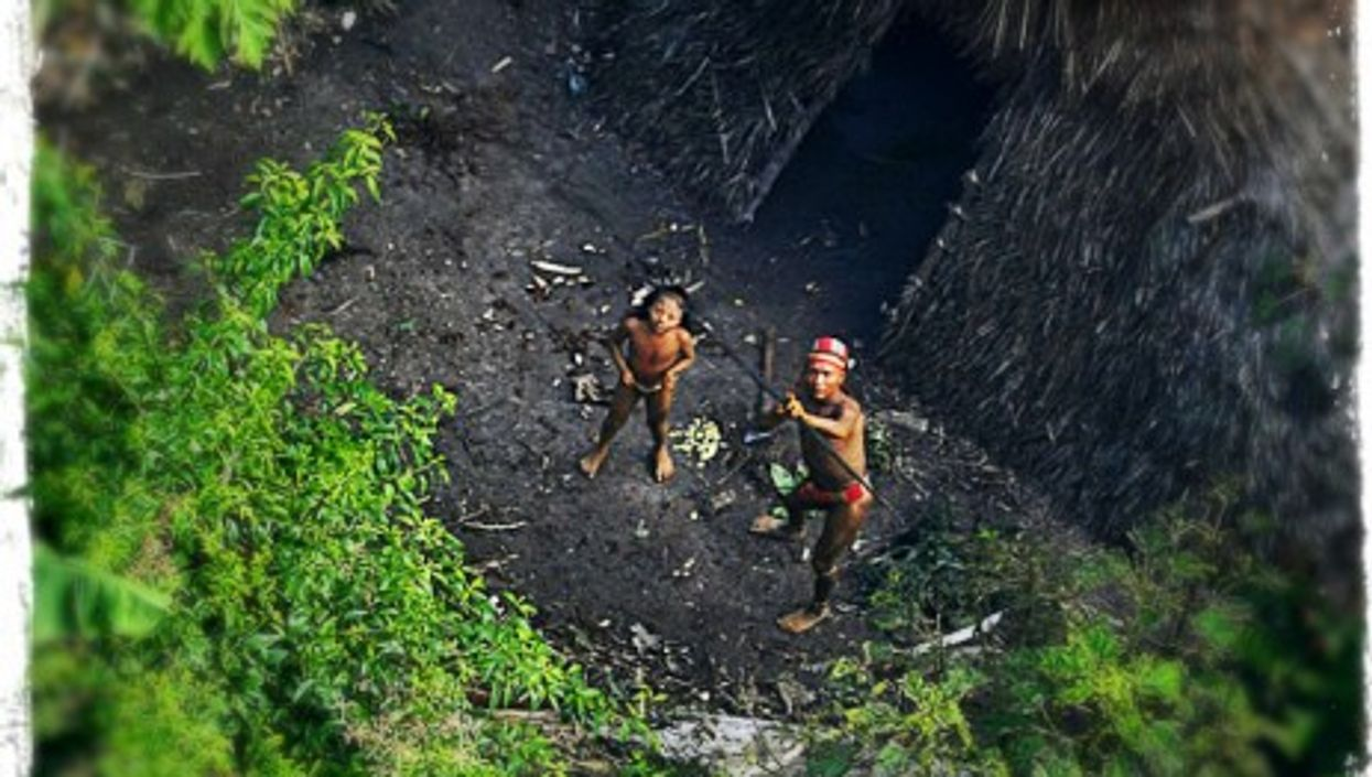 Isolated Indians in the Amazon jungle