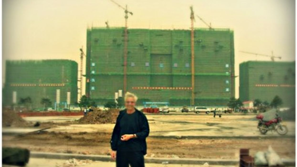 Israeli architect Benny Shadmy and one of his Chinese projects