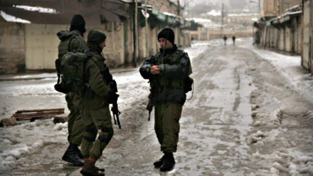 Israeli soldiers in Hebron on Jan. 8