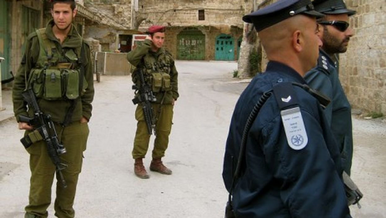 Israeli soldiers patrolling in the West Bank