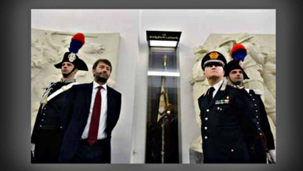 Italian Culture Minister Dario Franceschini and Carabinieri Commander Tullio del Sette