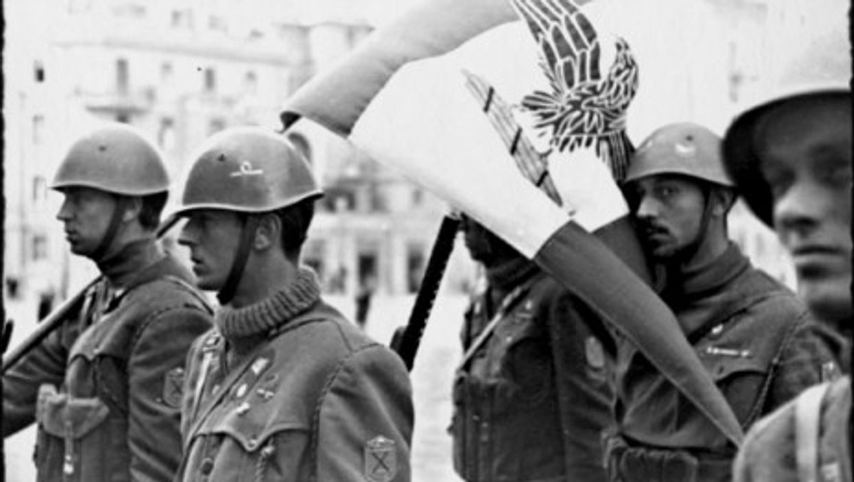 Italian soldiers of the Decima MAS (RSI) in Rome in March 1944