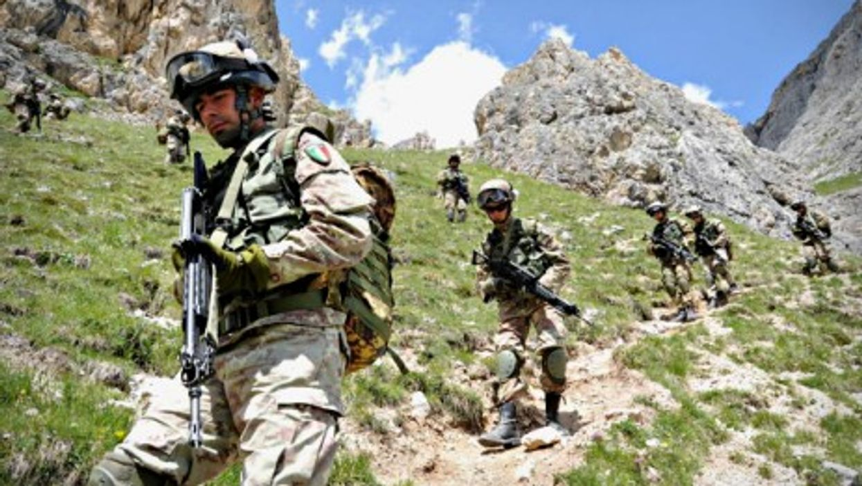 Italian soldiers training in northern Italy