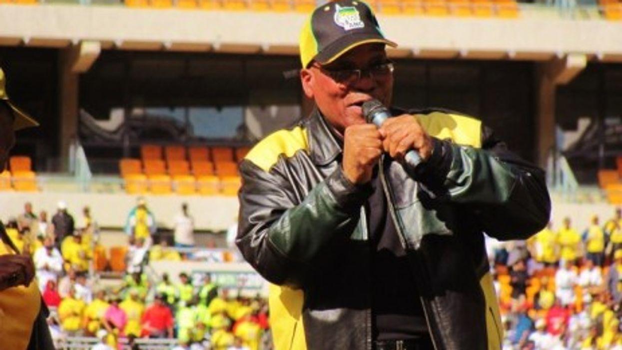 Jacob Zuma on stage