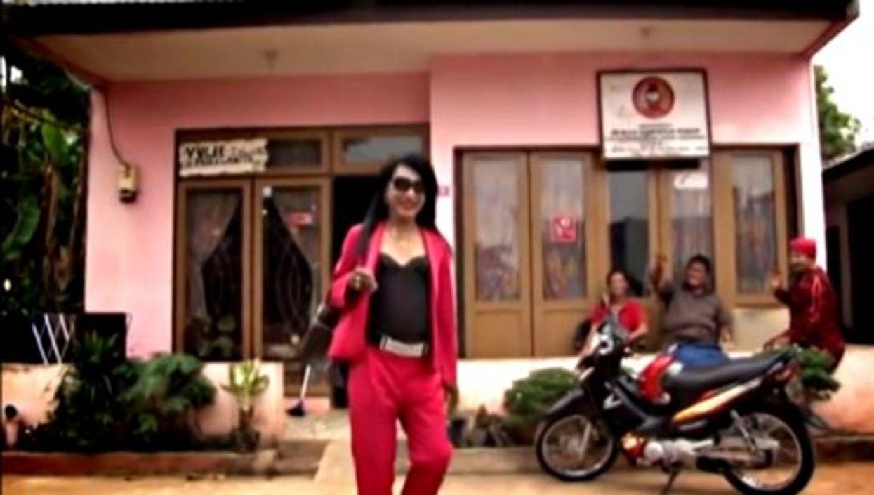 Jakarta's 'pink house'
