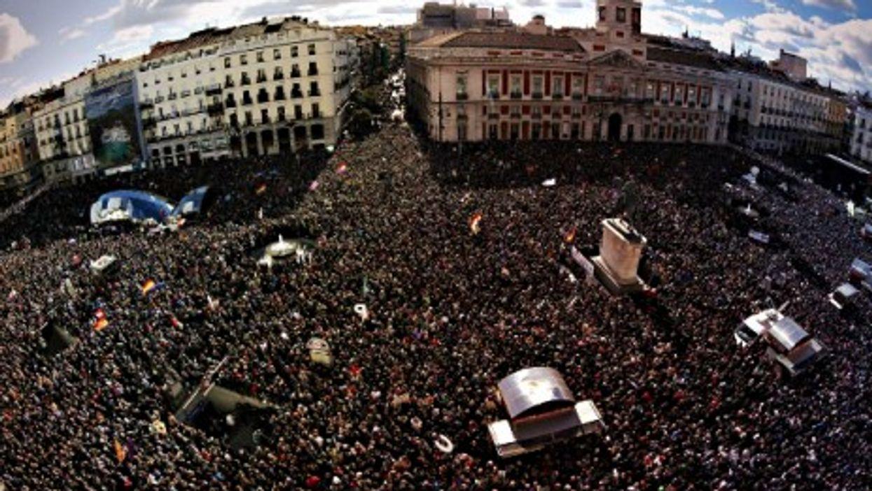 Jan. 31 Podemos protest in Madrid