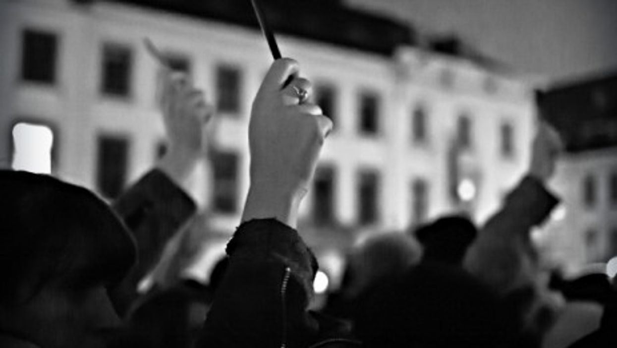 Jan. 7 silent march in Brussels in memory of the Charlie Hebdo victims.