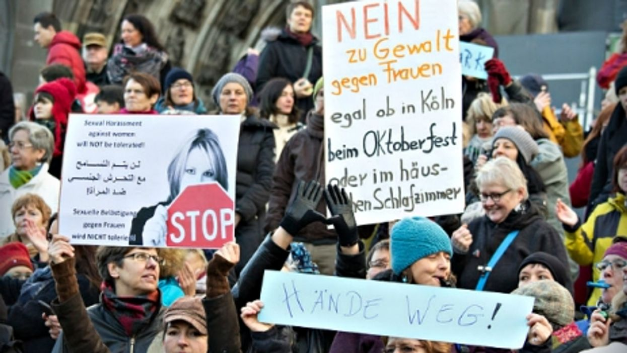 Jan. 9 protest against male violence against women in Cologne