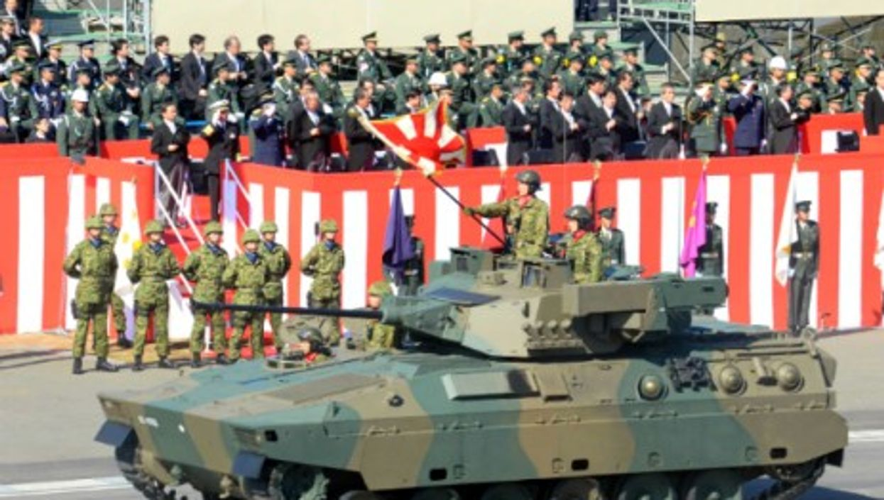 Japan's military shows its stripes
