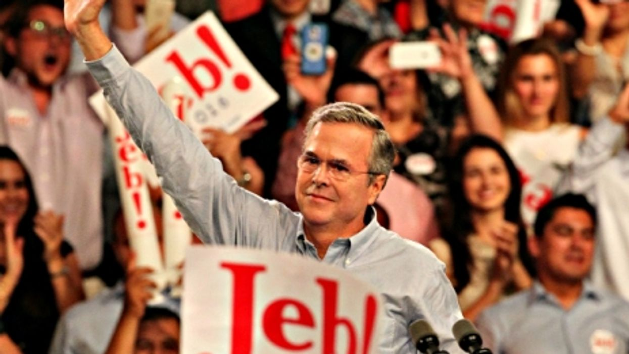 Jeb Bush announcing his candidacy for president on June 15 in Kendall, FL