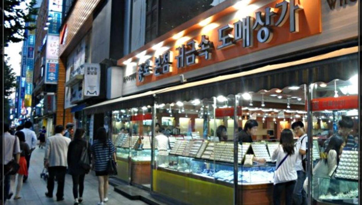 Jewelry district in Seoul