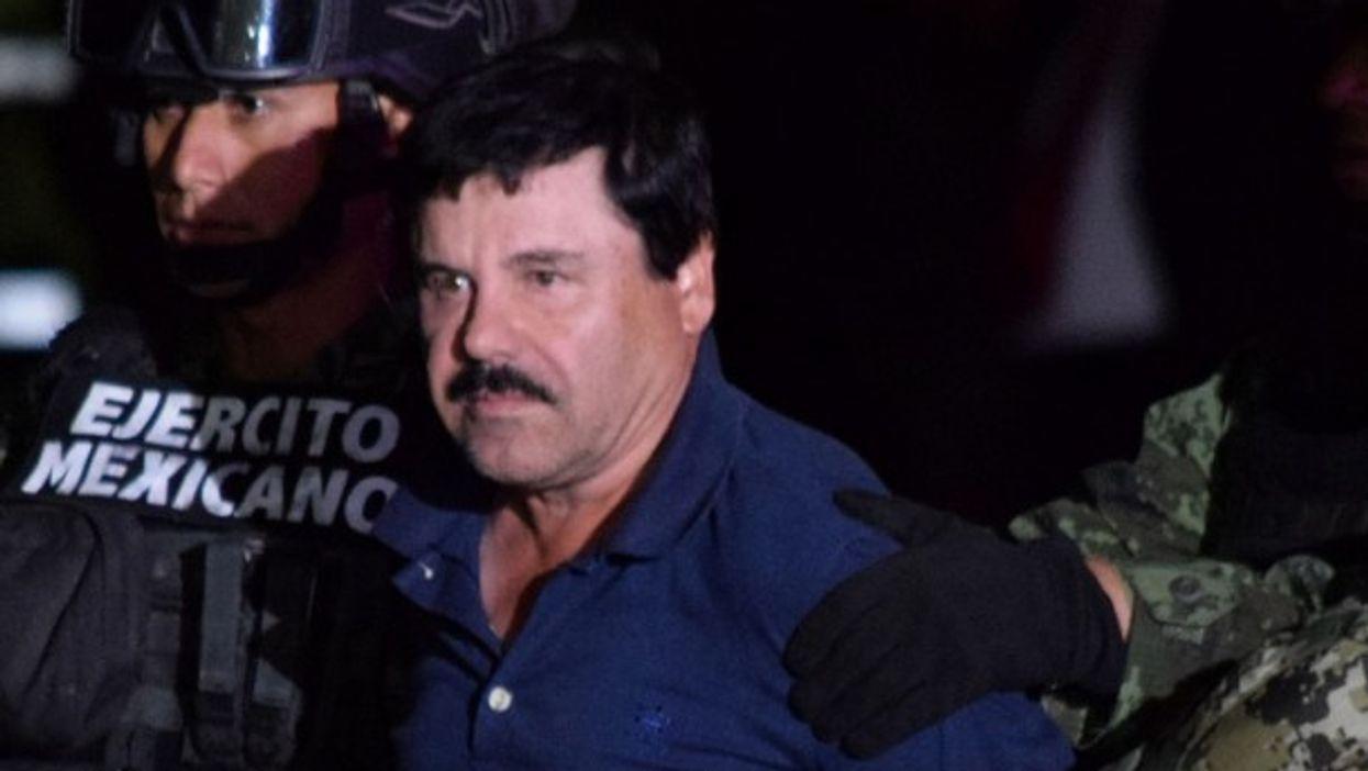 Joaquin 'El Chapo' Guzman under arrest