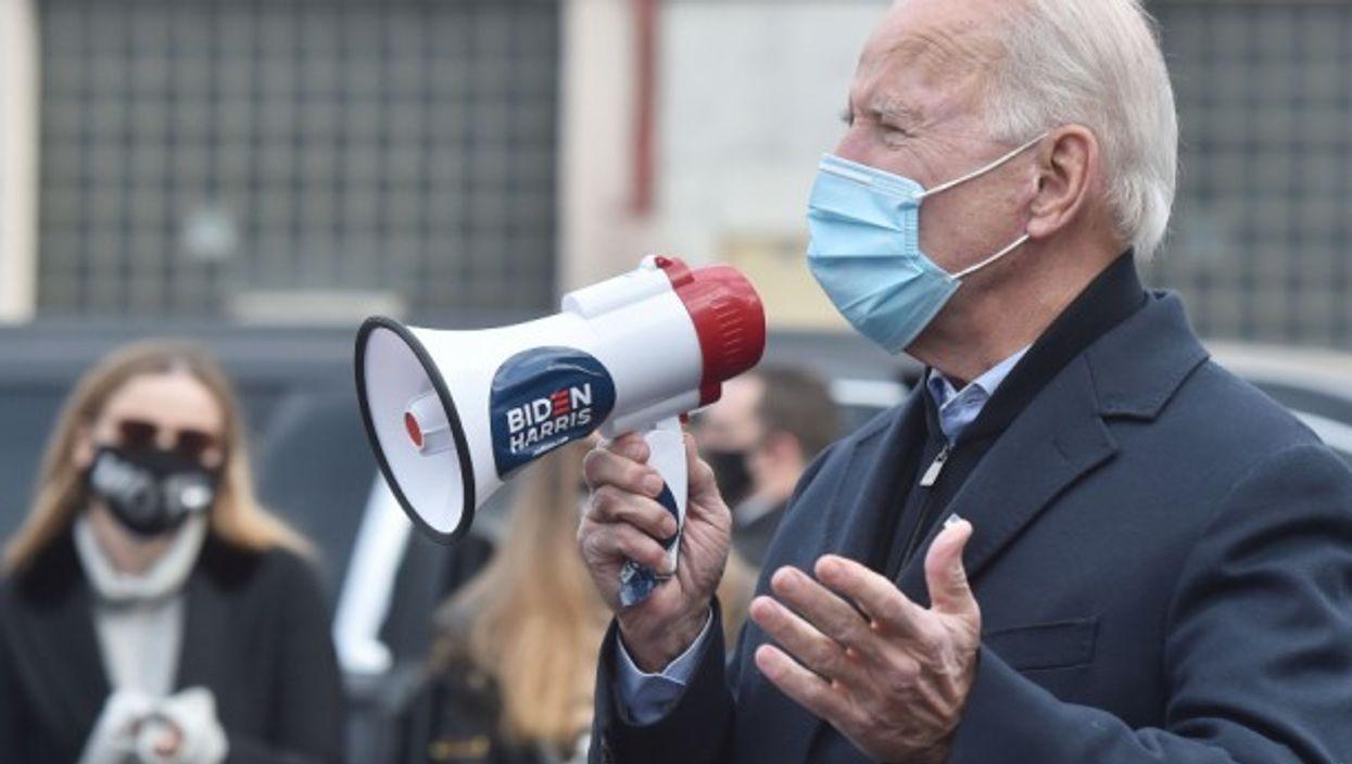 Joe Biden campaigning in Scranton in November 2020